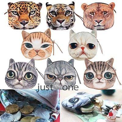 New Cute Cat Face Zipper Case Coin Purse Wallet Makeup Buggy Bag Pouch(China (Mainland))