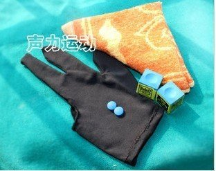 Free shipping!!A set of Billiards Pool/Black 8 accessories(2 chalk+2 tips+1 glove+1 wipe cloth)