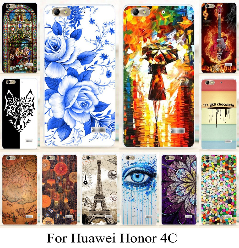 Гаджет  for Huawei honor4c honor 4c new arrival fashion pattern phone case anti-knock painting case cover skin hood cellphone bag None Телефоны и Телекоммуникации