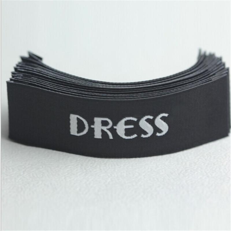 Custom top quality Black Damask Neck t shirt clothing woven label 55 mm * 10 mm(China (Mainland))