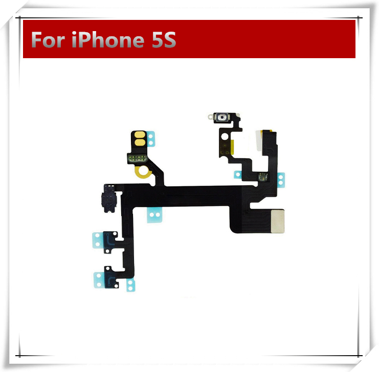 10pcs/lot New OEM Switch On / OFF Power Flex Cable For iPhone 5 5S 5C 4 4S Mute Volume Button Flex Cable Ribbon(China (Mainland))