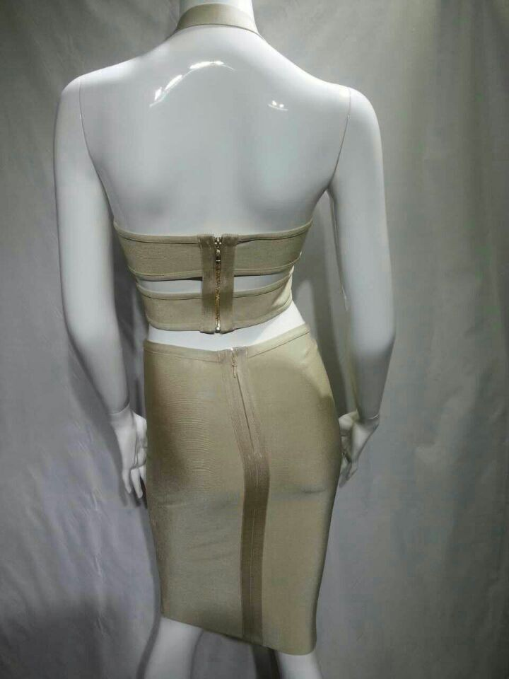 2015-new-fashion-women-cute-sexy-strap-two-piece-set-beige-bodycon-evening-party-Bandage-Dress (1)