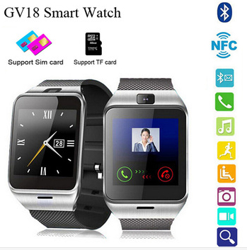 { First support NFC } GV18 Smart bluetooth wristWatch with Camera Android watch Phone support SIM card Smartwatch for smartphone<br><br>Aliexpress