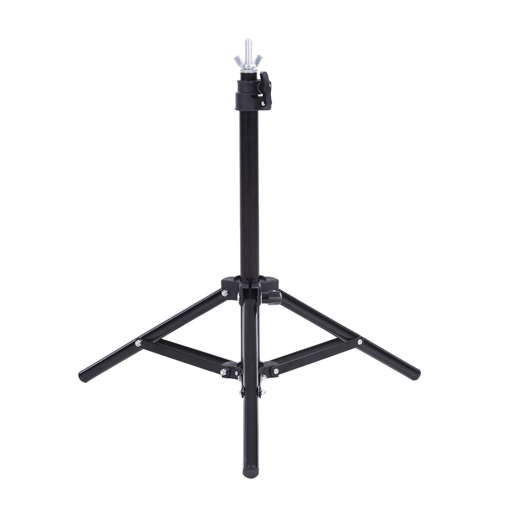 60.5 * 70cm Metal Support Stand Photography Studio Video System Kit Set with Crossbar 3 * Clamps for PVC Backdrop Background(China (Mainland))