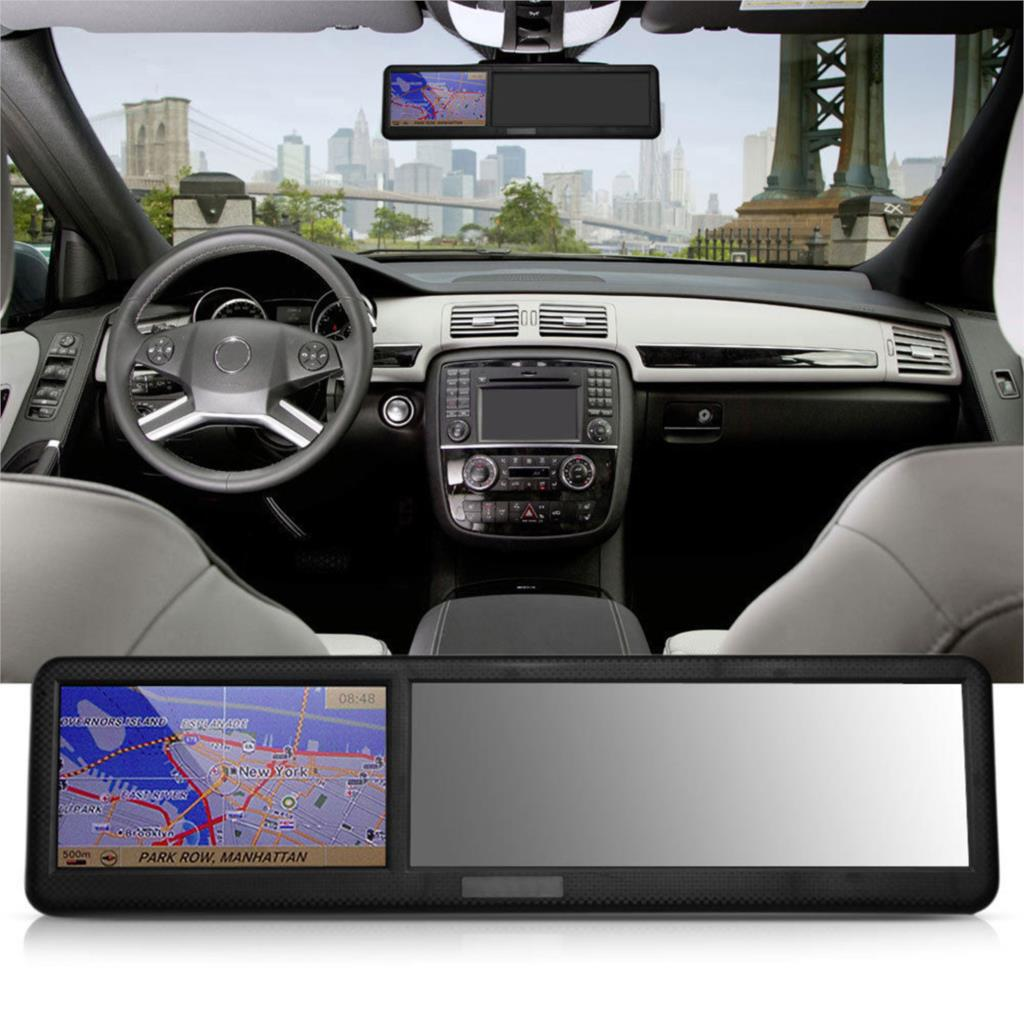 hot sale new 4.3inch Touch Screen Car GPS Navigation Bluetooth 2.0 Rearview Mirror EU Map Support FM Transmission tk103b(China (Mainland))