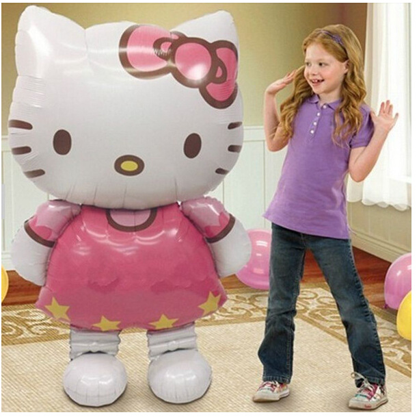 Lucky 1pcs 116*65cm Hello Kitty Balloon Large Size KT Foil Helium Balloons For Kids Classic Toys Party Decoration Baloon HK0003(China (Mainland))