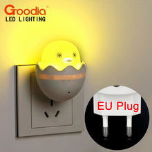New EU Plug Duck AC110-220V Wall Socket Light-control Sensor LED Night Light Bedroom lamp(China (Mainland))