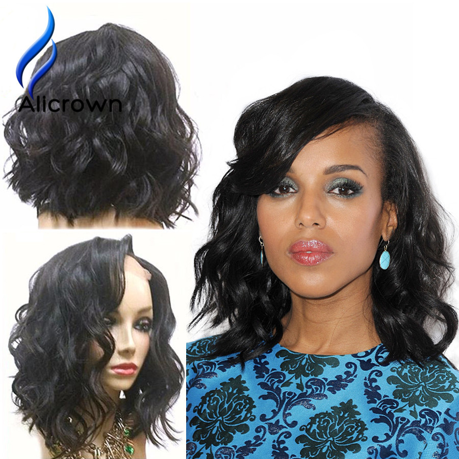 Short Brazilian Hair Wigs Full Lace Front Human Hair Wigs For Black Women Body Wave Bob Natural Wave U  Part Wig Full Lace Wig