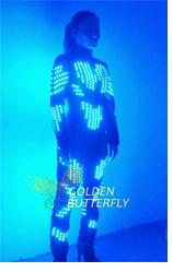 LED Clothing Glowing Fashion Robot Clothes Luminous Talent Show Women's LED Suits Ballroom Mechanical Dance Dress Accessories