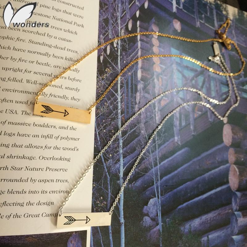 Free Shipping Necklaces Vintage Design Arrow Bar Pendant 18K Gold Plated Geometric Arrow Choker Necklace Women 30Pcs Wholesale<br><br>Aliexpress