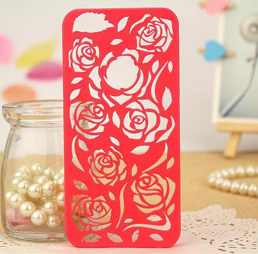 Instock!! Fashion Hollow Rose Case for Iphone 5 Mobile Phone Case for Apple Iphone 5s Hard Back Cover for Iphone5 Iphone5s Cases(China (Mainland))