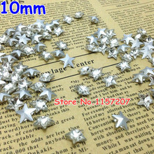 10mm Crystal Clear Color Star Stone Pointback Crystals 10mm For DIY Jewely(China (Mainland))