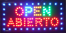 """hot selling customerized Animated LED OPEN ABIERTO signs 19x10"""" inch Led Neon open sign Led Sign board(China (Mainland))"""