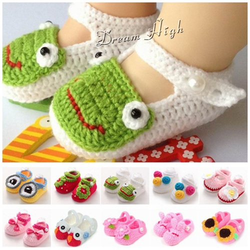 Bow kids baby moccasins boots brand;white christening girl baby crochet shoes owl animal;newborn boutique baby shoes frog #JH004(China (Mainland))