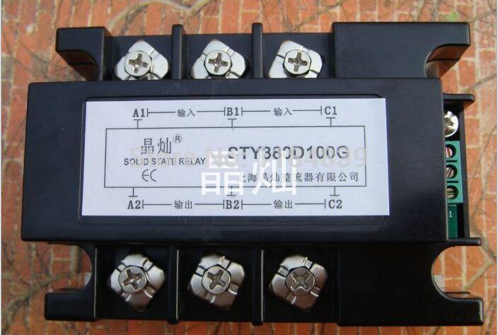 Трехфазные твердотельные реле давления регулятор свинарник-380D100G ССР переменного тока 100А реле ил