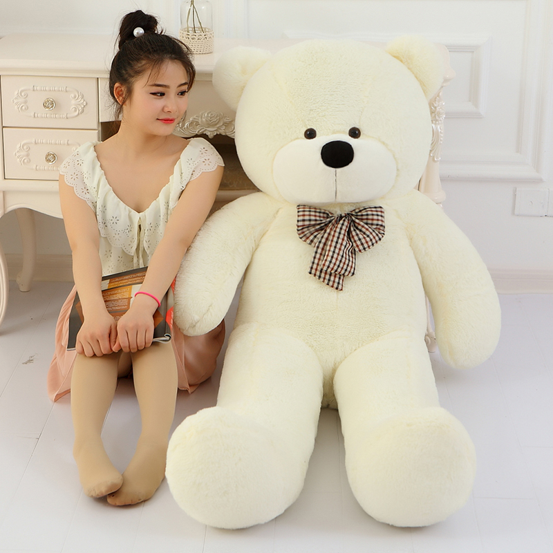 5 colors 80cm white cute small teddy bear big large plush stuffed toys kid baby dolls birthday valentine gift for girl LLF(China (Mainland))