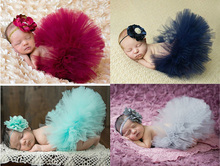 2015 NEW 4 Colors Newborn Tutu Skirt With Matching Flower Headband Stunning Newborn Photo Prop Girl Tutu Skirt(China (Mainland))