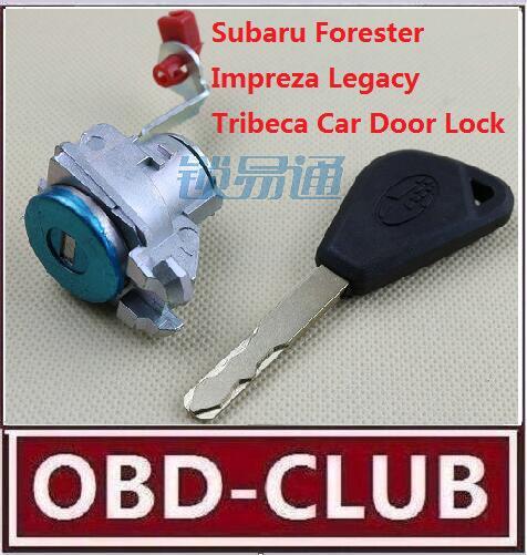 Best Quality For Subaru Forester Impreza Legacy Tribeca Car Door Lock Replacement With Key Subaru Centrol lock door lock(China (Mainland))