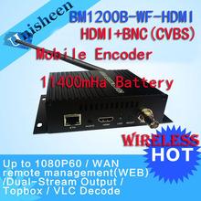 MPEG-4 AVC/H.264 HDMI Encoder BNC CVBS Encoder Wifi Capture Mobile Encoder HD video transmitter