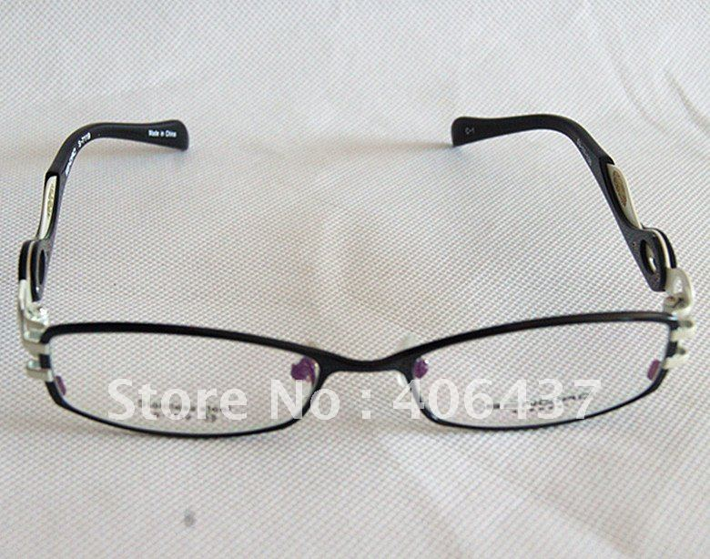 Women's Titanium Eyeglass Frame Black Eyewear Brand New Top Quality Optical(China (Mainland))