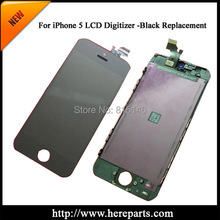 5pcs/set + Free shippig 5G 100% tested guarantee  for iPhone 5 LCD screen digitizer Assembly with frame Replacement  Black/White