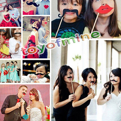 31pieces DIY Photo Tool Booth Prop Mustache On Stick Wedding Birthday Party Fun(China (Mainland))
