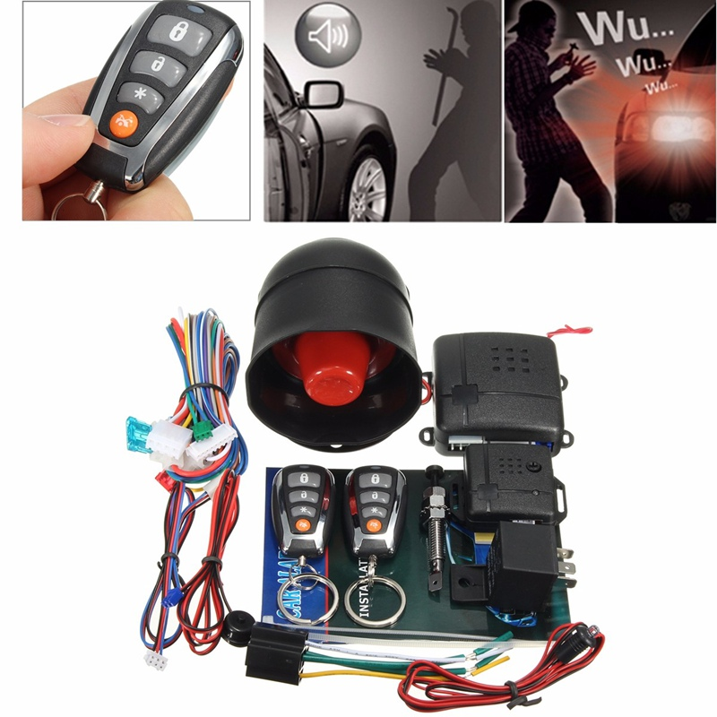 L202 LED Universal One Way Auto Car Alarm Systems Central Door Locking Security Key with Remote Control Anti-Theft System(China (Mainland))