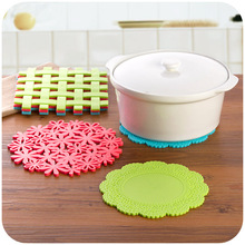 Multi-family home styling large PVC insulation pad thicker anti-hot kitchen pot mat bowls mat placemat coaster(China (Mainland))