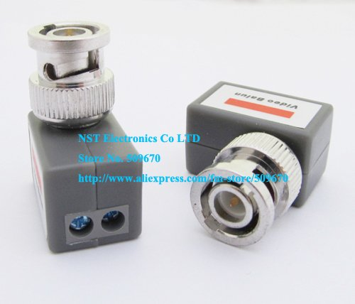 Free Shipping/ 6PCS/ 1CH Passive Video Balun Video Transceiver Twisted Pair Transmitter Camera CCTV BNC CAT5 Video Balun(China (Mainland))