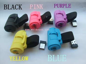 FREE SHIPPING /  2.4G finger wireless mouse/ RING mouse/optical mouse cool gift  5kinds color available