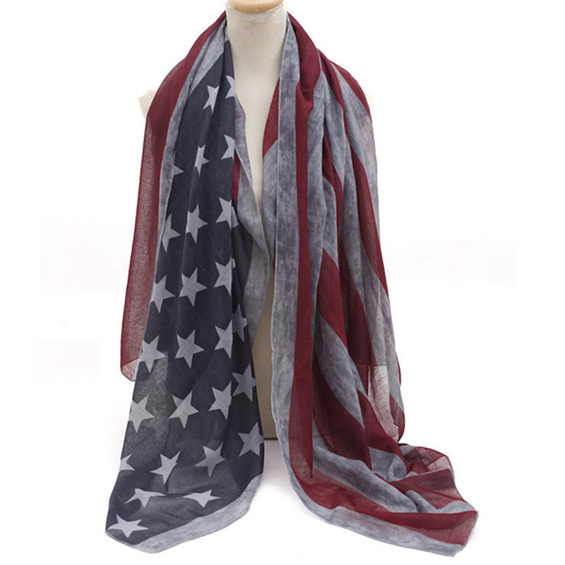 wholesale dhl free 40pcs american flag infinity scarf