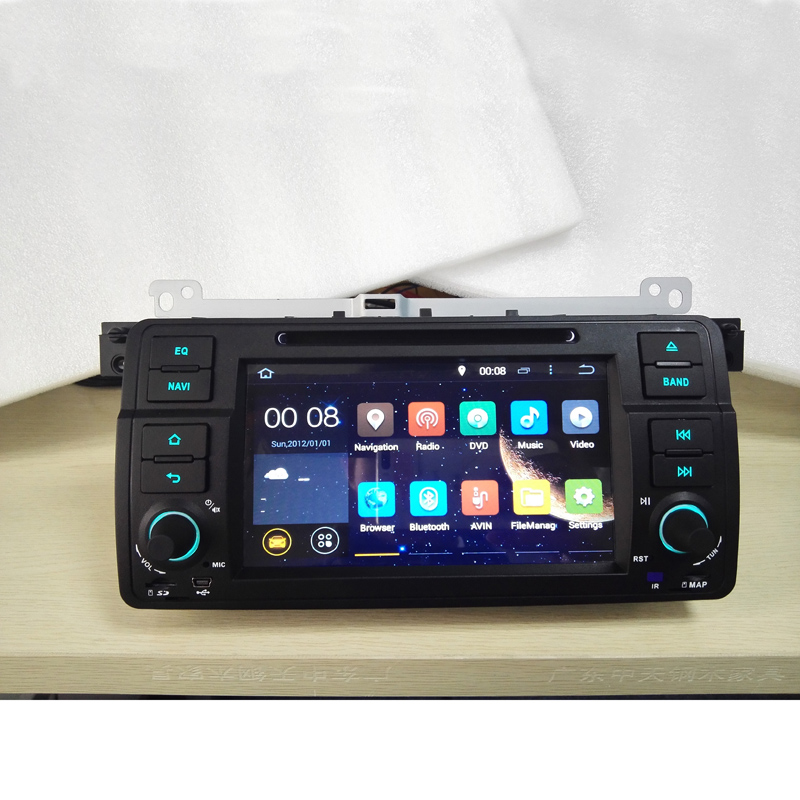 1 Din Quad Core 7 inch 1024*600 HD Android 4.4 RK3188 Car Radio GPS Navi For BMW E46 3 Series M3 Support bluetooth Mirror-link(China (Mainland))