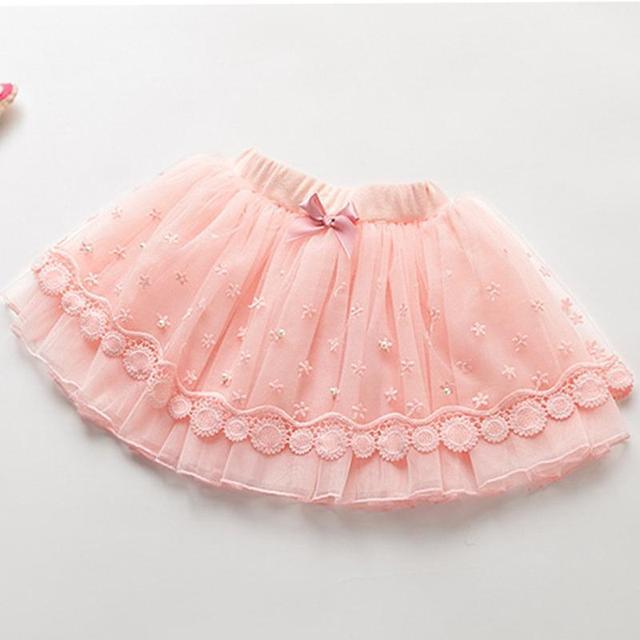 2016 корейской версии перл кружева платье принцессы девушки вуаль половина - длина юбки новый ручной бисером юбки чи