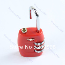 Red Code Lock, TSA Resettable 3 Digit Combination Safe Travel Luggage Suitcase Lock(China (Mainland))