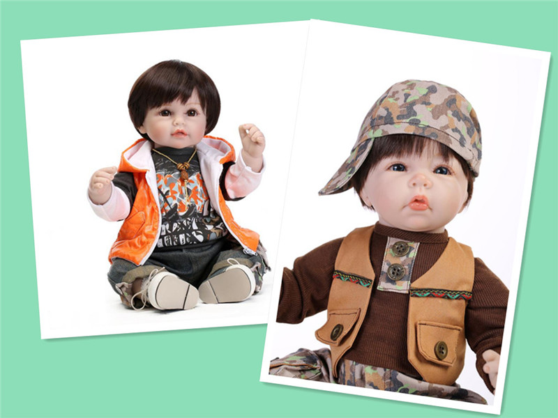 Handsome 55m 22'' Reborn Toddler Baby Doll With Cool Baby Boy Clothes Hot Sell Christmas Gift For Boy Brand Brinquedos Infantis(China (Mainland))