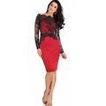 Womens Dresses Sexy Vintage Lace Dresses For Women Long Sleeve Lace Dress Bodycon Sexy Club Wear