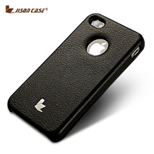 Jisoncase Case For iPhone 4 & 4s Handmade PU Leather Thin Protective Cover With Comfortable Tactility(China (Mainland))