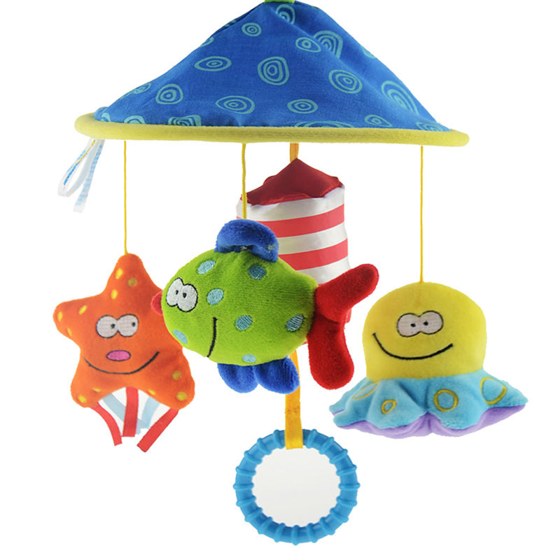 Soft Plush Toy Baby Rattles Crib Bed Hand Bell Educational Toy Rotate Wind-up Twist Spiral Toy Rattles for Babies(China (Mainland))