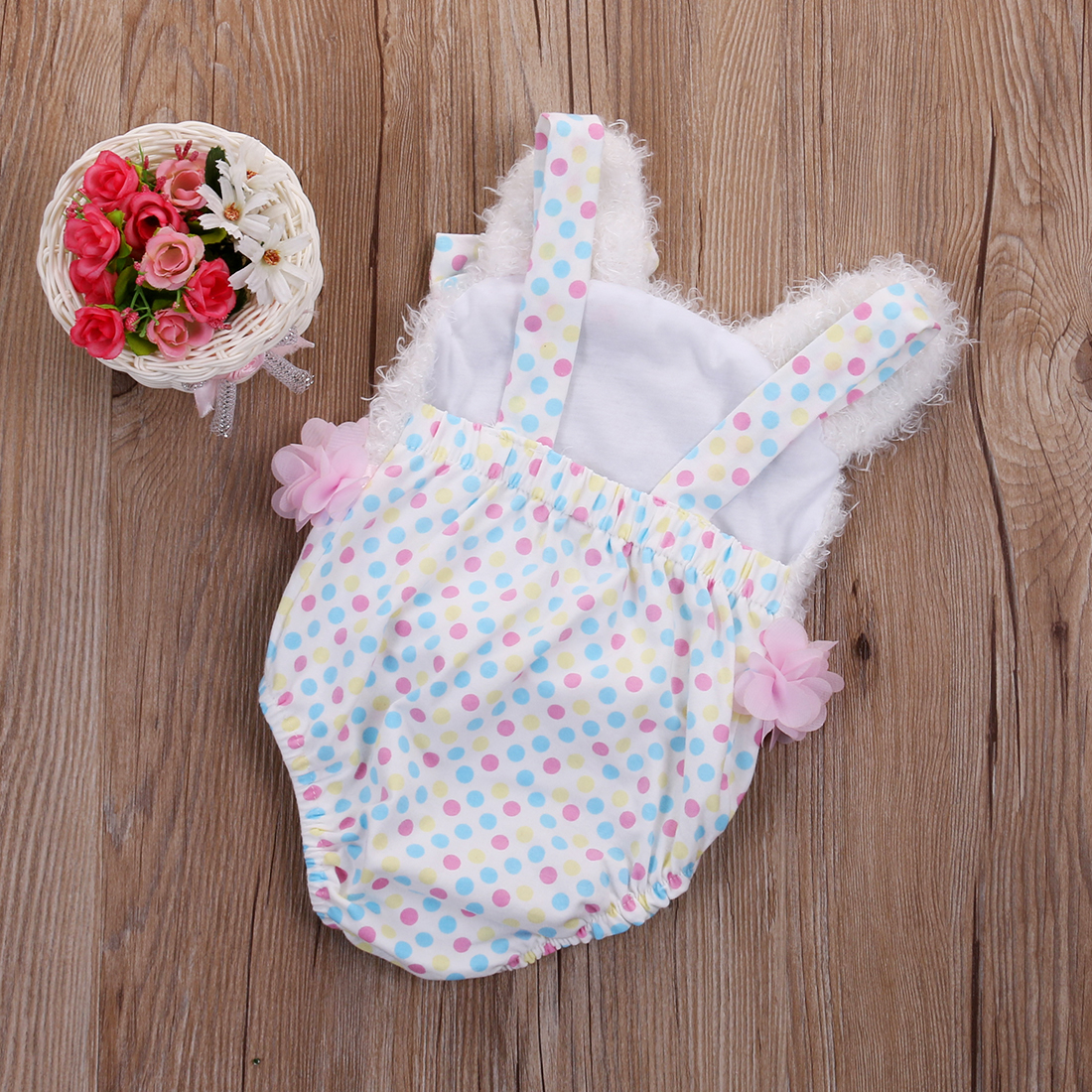 Summer Newborn Baby Girl Clothes Cute Bear Bodysuit Jumpsuit Playsuit Outfits Set One-pieces Clothes Wholesale