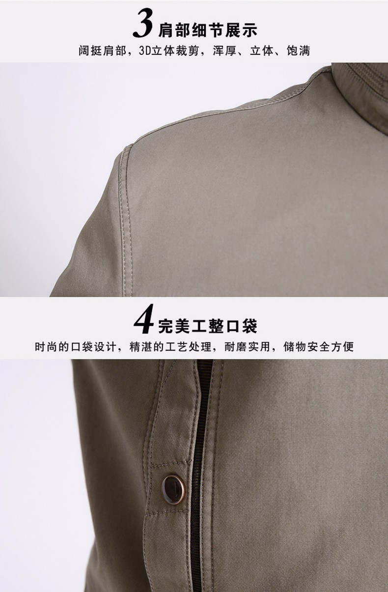 Middle Aged Men Casual Jackets Man Autumn Spring Stand Collar Zipper Front Car Coat Father Outwear Plus Size Chaqueta Hombre (8)