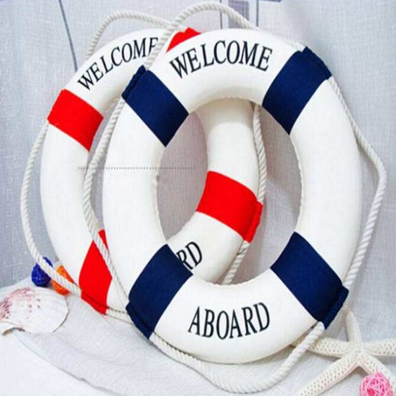 New Hot Sale 1PC Fashion Mediterranean Family Adorment Life Buoy Crafts Living Room Decoration Nautical Home Decor DP870215(China (Mainland))