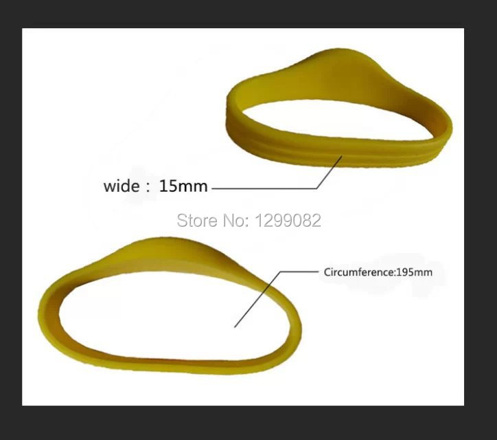 Free Shipping(100pieces/lot) LF(low frequency)125KHz RFID Silicone Wristband for T5577 waterproof RFID Tag Proximity Watch Type(China (Mainland))