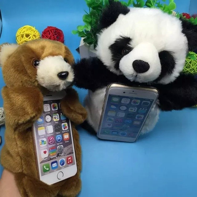 For iphone 6s phone case,hand held mobile phone shell, cute, cartoon, novel,plush cell phone case.(China (Mainland))