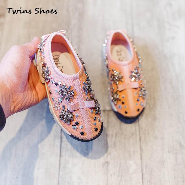 2016 новая коллекция весна лето осень девушки кроссовки дети цветок обувь дети сетка ...