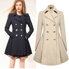 S-XXL Plus Size Trench Coat for Women Double Breasted Slim Windbreaker Female Desigual Long Coat Femme Ladies Trenchcoat YB257