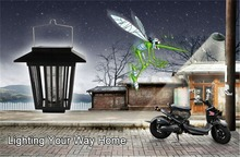 Solar Power Mosquito repeller Pest Killer with LED Lamp Outdoor Home Garden goods UK shipping(China (Mainland))