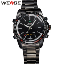 WEIDE Fashion Casual Mens Watches Luxury Brand High Quality Quartz Watch Men Sport Led Stainless Steel Relogio Masculino WH903