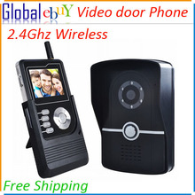 "Home Security 2.4G Wireless Video Door Phone Intercom Doorbell Camera with 7""LCD Monitor Fast Shipping(China (Mainland))"