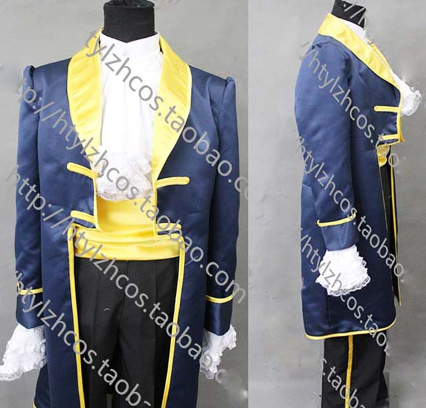 Beauty and the Beast bella Prince cosplay Costume for male costumes Christmas party Free Shipping Одежда и ак�е��уары<br><br><br>Aliexpress