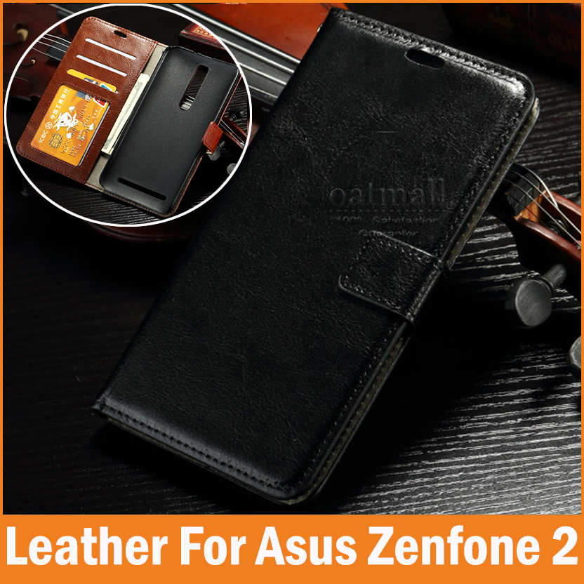 New For asus zenfone 2 Case Wallet Leather Flip With Stand 5.5 Zenfone2 ze551ml Cover Capa funda celular Phone Bags Accessories(China (Mainland))